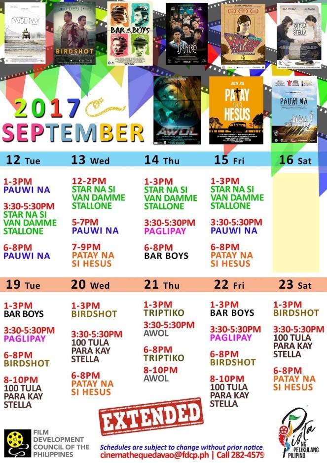 PISTA NG PELIKULANG PILIPINO (FDCP CINEMATHEQUE DAVAO)